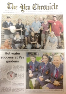 Yea Chronicle Front Page compost hot water